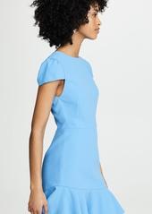 alice + olivia Fable Asymmetrical Ruffle Short Sleeve Dress