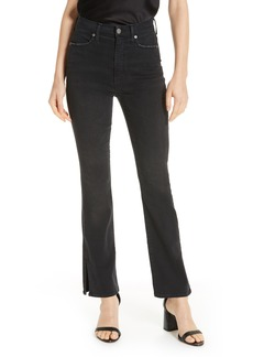 Alice + Olivia Fabulous High Rise Baby Bootcut Jeans (Night Owl)