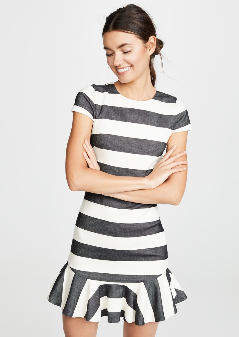 alice + olivia Fantine Ruffle Dress