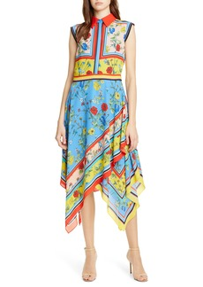 Alice + Olivia Farrah Handkerchief Dress