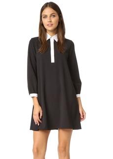 alice + olivia Fatima Collared Shift Dress