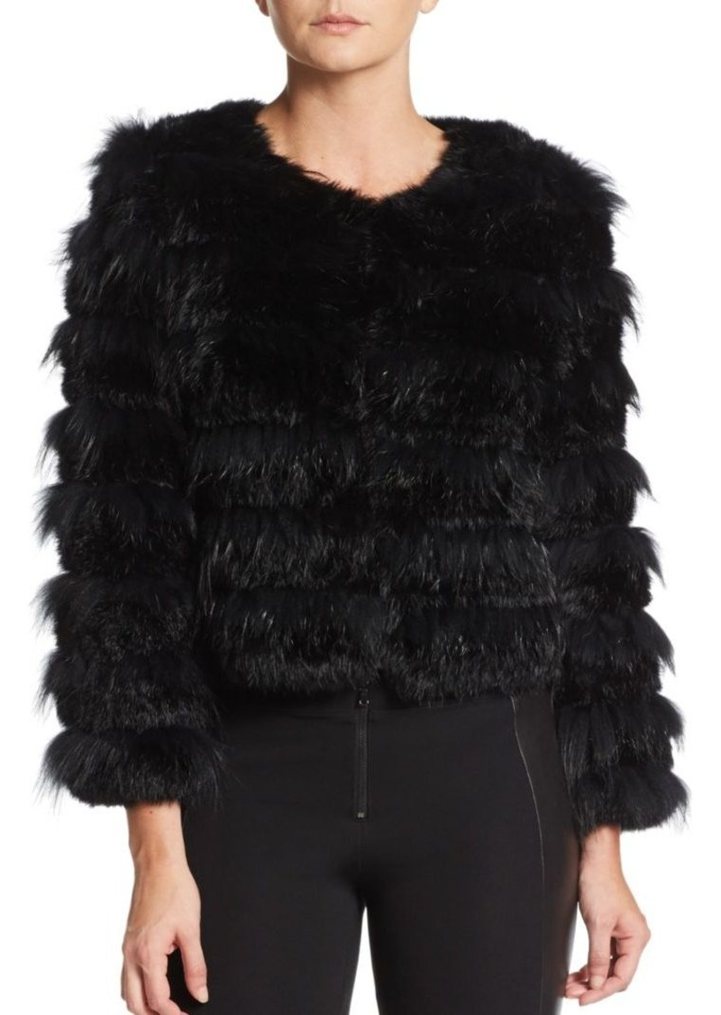 Alice + Olivia Fawn Rabbit & Fox Fur Coat