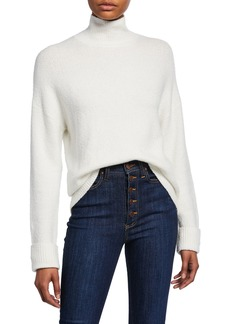 Alice + Olivia Felix Oversized Roll-Cuff Turtleneck Sweater