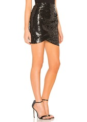 Alice + Olivia Fidela Draped Mini Skirt