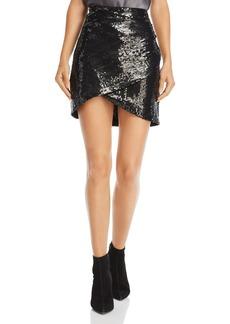 Alice + Olivia Fidela Sequined Mini Skirt