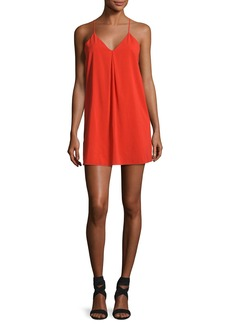 Alice + Olivia Fierra Crepe Y-Back Tank Dress