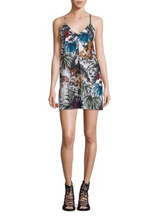 Alice + Olivia Fierra Stretch-Silk Y-Back Tank Dress