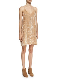 Alice + Olivia Fierra Tank Velvet Mini Dress