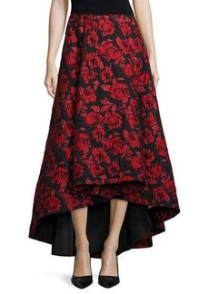 Alice + Olivia Floral Brocade Tea-Length Skirt