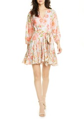 Alice + Olivia x Carla Kranendonk Tie Front Floral Cotton Dress