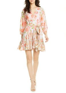 Alice + Olivia x Carla Kranendonk Tie Front Floral Cotton Dress