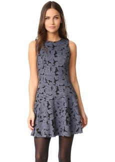 alice + olivia Fonda Crew Neck Drop Waist Dress