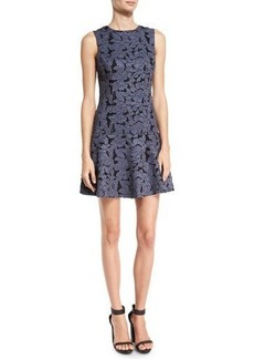 Alice + Olivia Fonda Floral-Lace Drop-Waist Dress