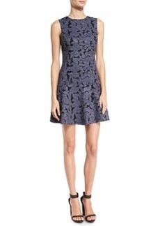 Alice + Olivia Fonda Floral-Lace Drop-Waist Dress