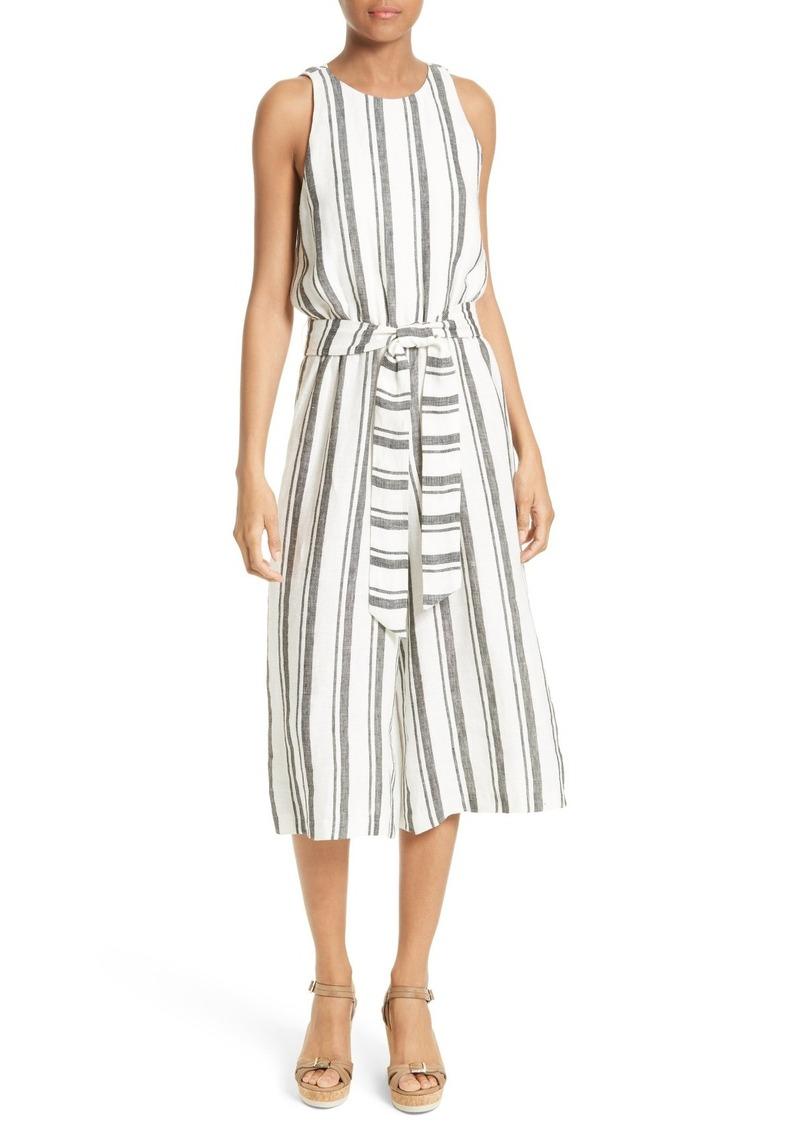 Alice + Olivia Franny Stripe Linen Jumpsuit