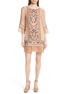 Alice + Olivia Gabriel Embroidered Tunic Dress