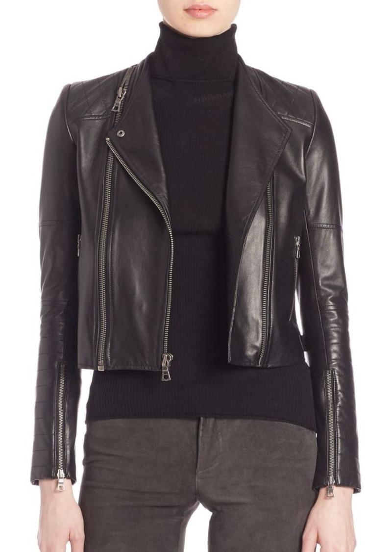 Alice + Olivia Gamma Leather Moto Jacket