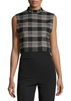 Alice + Olivia Garland Sleeveless Mock-Neck Top