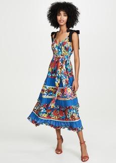 alice + olivia Gayla Tiered Midi Dress