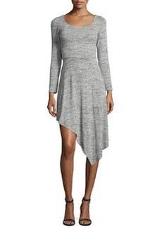 Alice + Olivia Geneva Long-Sleeve Asymmetric-Hem Dress