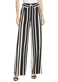 Alice + Olivia Geo Stripe Wide Leg Pants