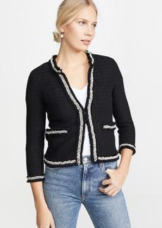 alice + olivia Georgia Short Embellished Sweater Jacket