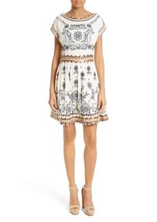 Alice + Olivia Gertie Embellished Shift Dress