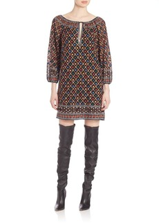 Alice + Olivia Gillian Embroidered Shift Dress