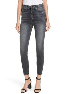 AO.LA by alice + olivia Good Exposed Button Skinny Jeans