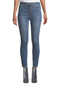 Alice + Olivia Good High-Rise Cropped Skinny Jeans