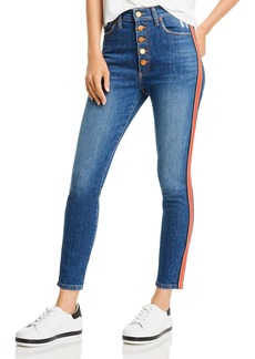 Alice + Olivia Good High-Rise Exposed-Button Skinny Jeans in Glow Up