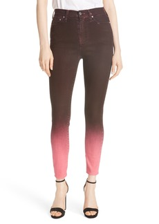 Alice + Olivia Good High Waist Ankle Skinny Jeans
