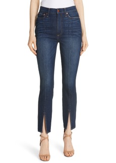Alice + Olivia Good High Waist Front Slit Skinny Jeans (Good Times)