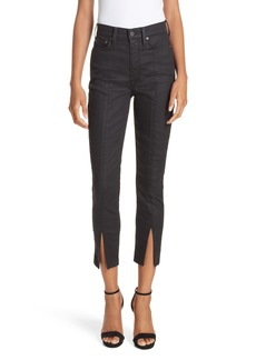 Alice + Olivia Good Slit Front Skinny Jeans (Cosmos)