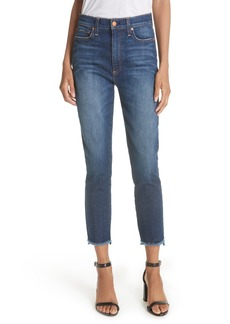 Alice + Olivia Good Stagger Hem High Waist Skinny Jeans (Good Times)
