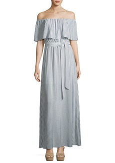 Alice + Olivia Grazi Off-the-Shoulder Maxi Dress