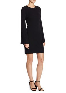 Alice + Olivia Gretel Ribbed Bell-Sleeve Bodycon Dress