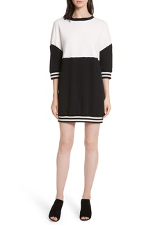 Alice + Olivia Gussie Colorblock Sweatshirt Dress