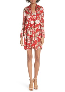 Alice + Olivia Gwenda Floral Paneled Tunic Dress