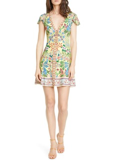 Alice + Olivia Hadley Floral Fit & Flare Dress