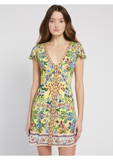 alice + olivia HADLEY FLORAL MINI DRESS