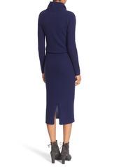 Alice + Olivia 'Hailee' Cowl Neck Blouson Sweater Dress