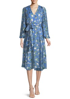Alice + Olivia Halsey Floral-Print Midi Dress