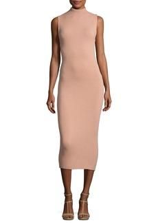 Alice + Olivia Hana Mock-Neck Sleeveless Midi Dress