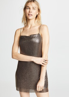 alice + olivia Harmony Chainmail Mini Slip Dress