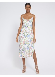 alice + olivia HARMONY FLORAL MIDI DRESS