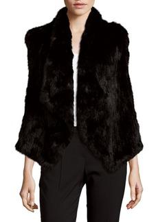 Alice + Olivia Harriet Rabbit Fur Vest