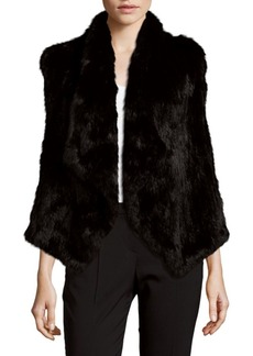 Alice + Olivia Harriet Rabbit Fur Vest