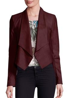Alice + Olivia Harvey Shawl Collar Suede Jacket