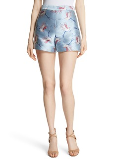 Alice + Olivia Heath Bird Print Shorts
